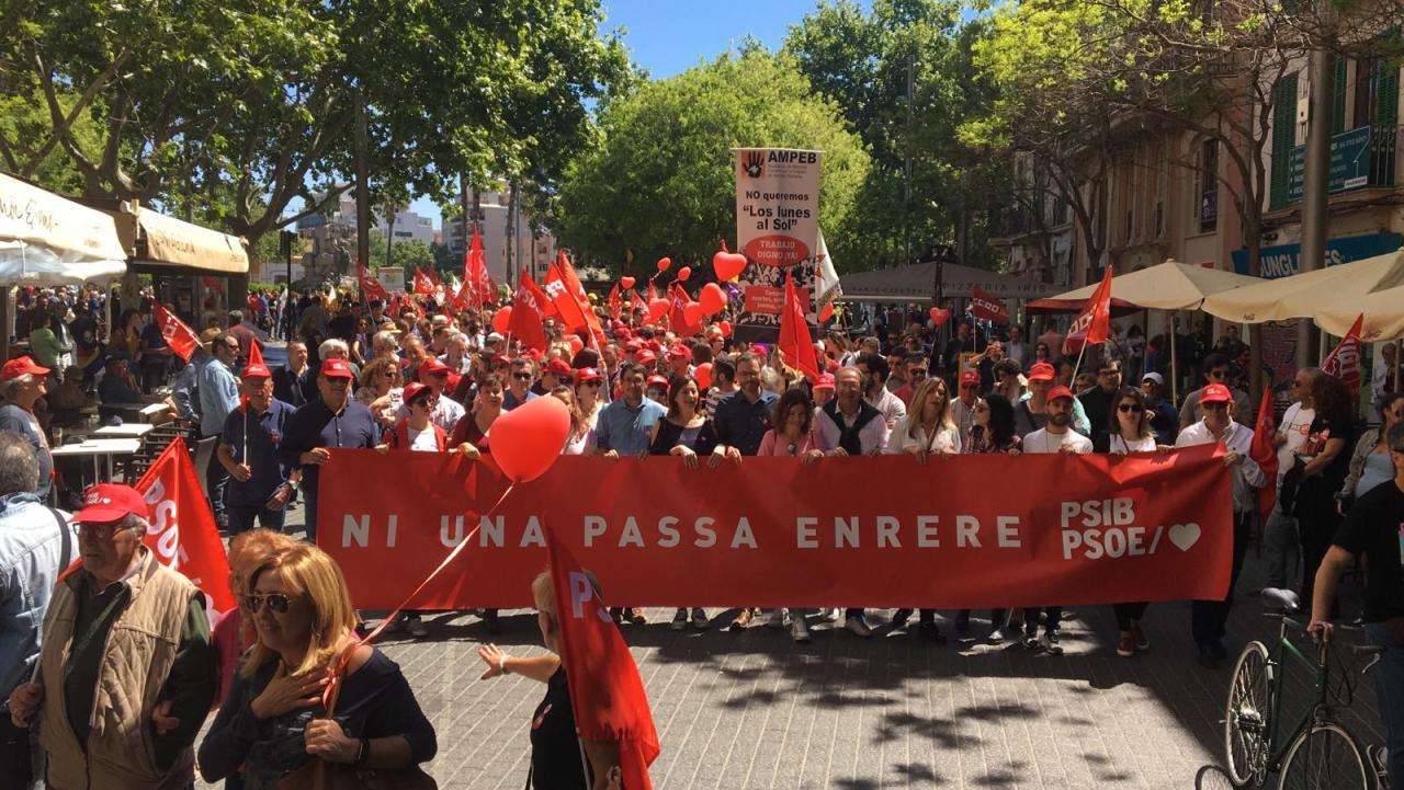 Manifestación del Día del Trabajo en Palma