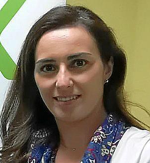 CALVIA. POLITICA MUNICIPAL. Joan Feliu y la coordinadora de Vox en Calvià, Idoia Ribas .