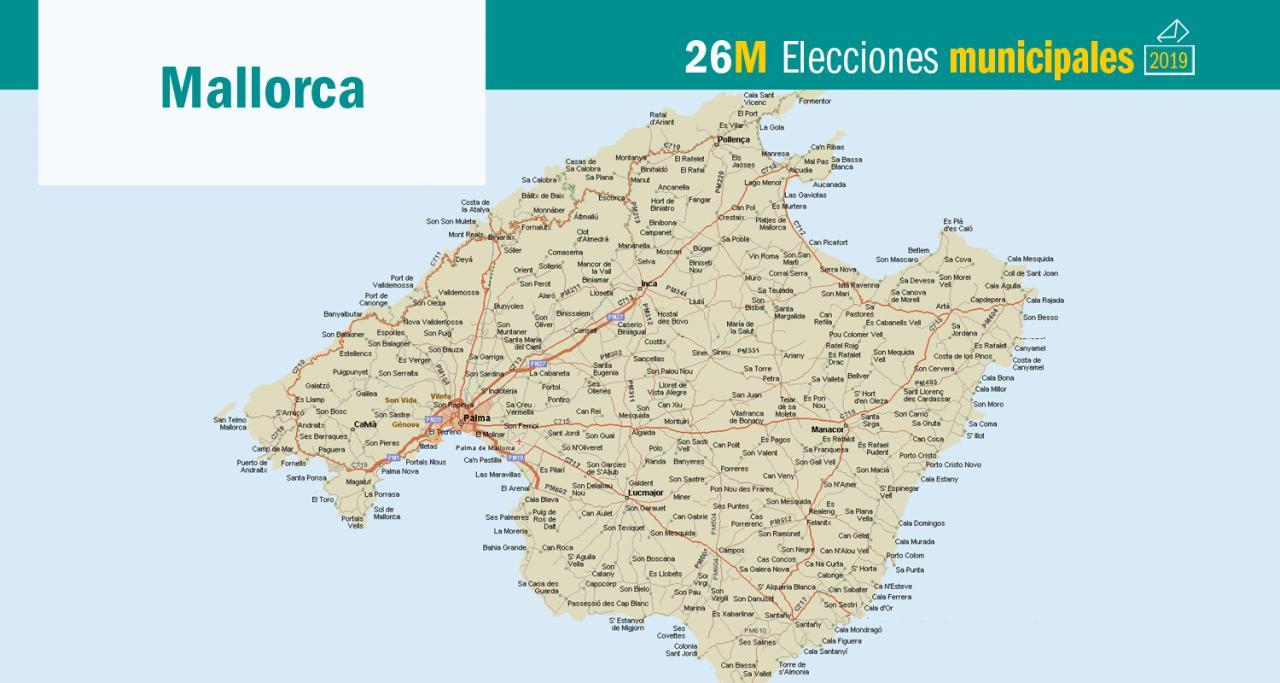 Mapa De Mallorca Municipios.Elecciones Mallorca Listas De Los Candidatos En Todos Los