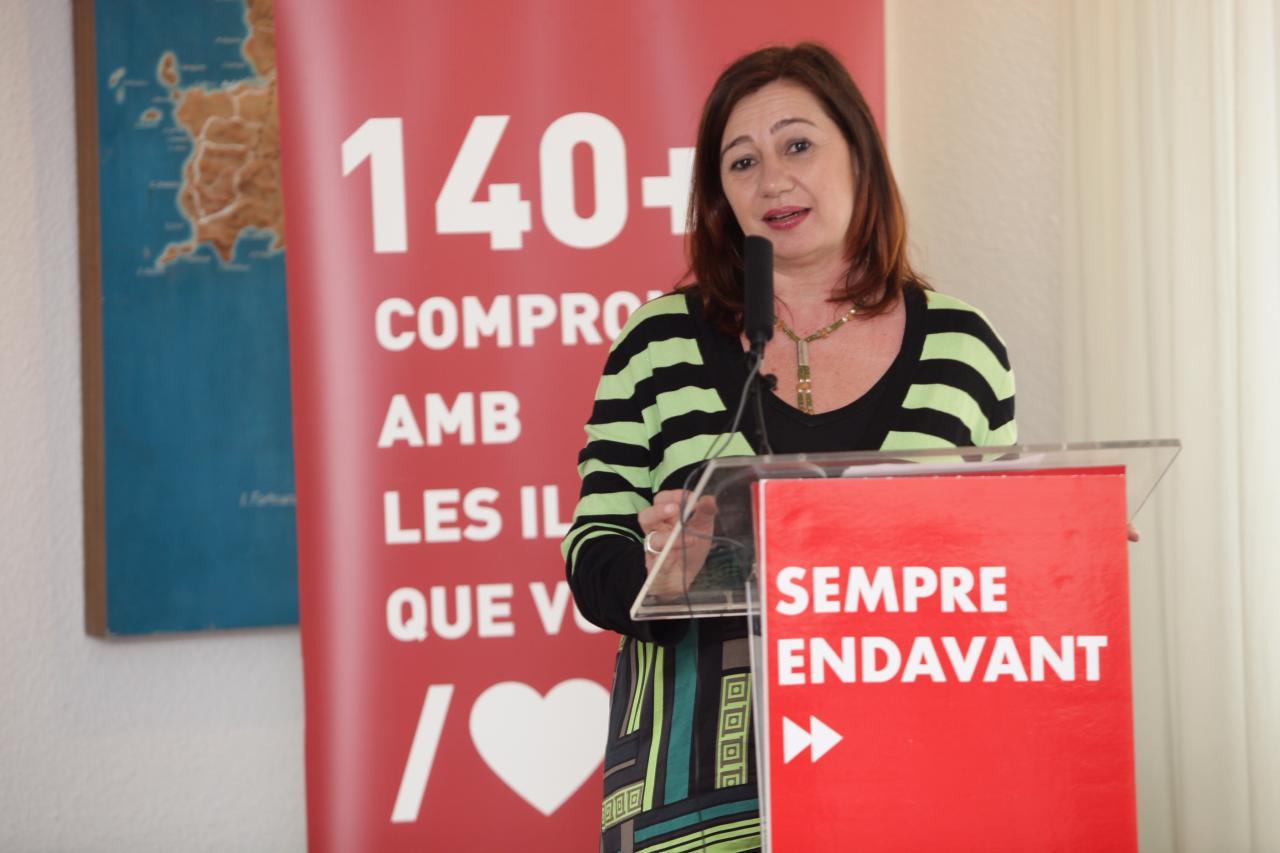 Francina Armengol aspira a revalidar la presidencia del Govern