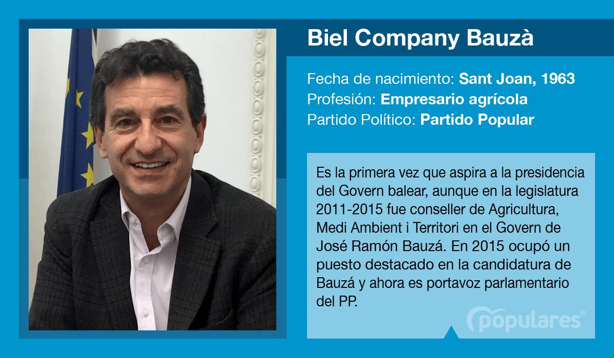 Biel Company es el candidato del PP al Govern