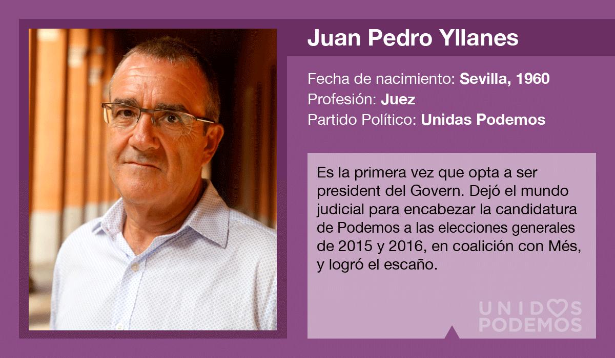 Juan Pedro Yllanes, candidato de Unidas Podemos al Govern
