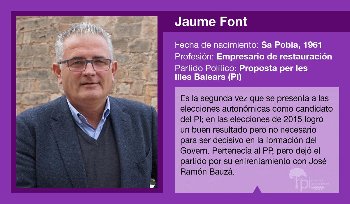 Jaume Font, candidato del PI al Govern