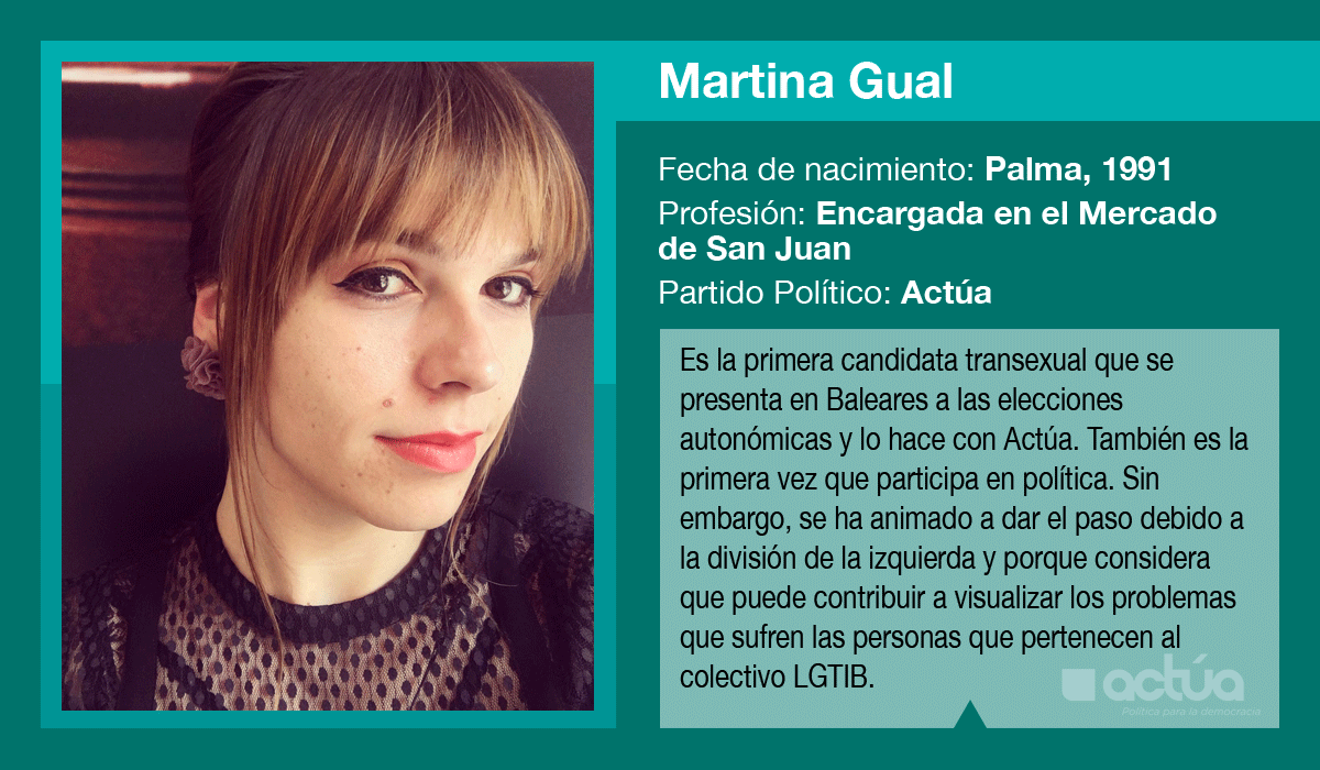 Martina Gual, es la candidata de Actúa