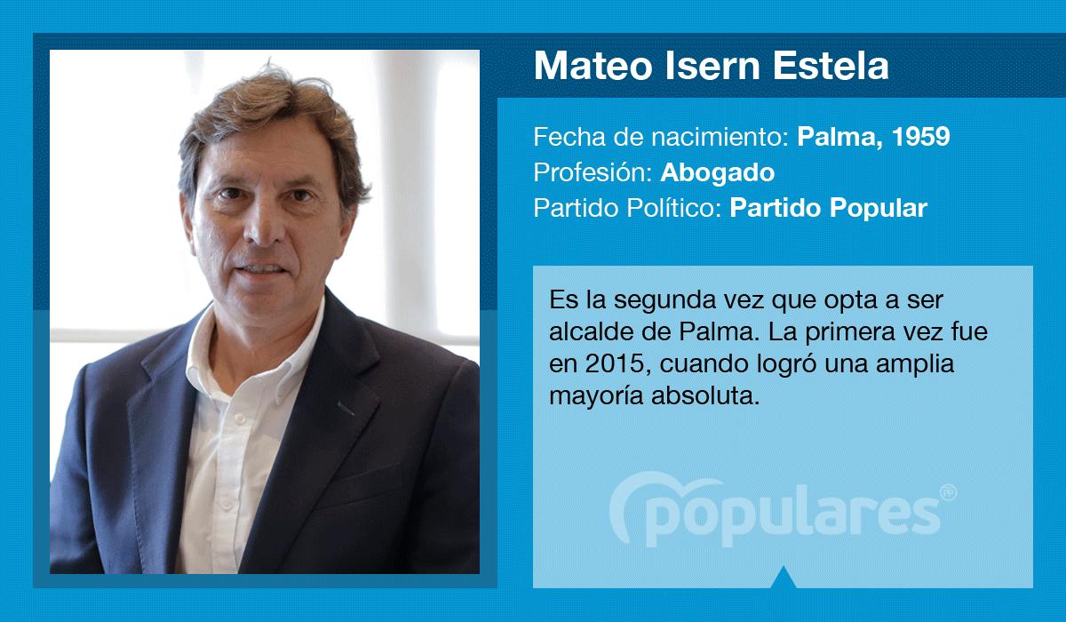 Mateo Isern, candidato del PP al Ajuntament de Palma