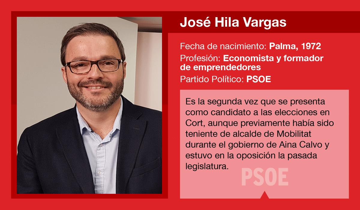 José Hila, candidato del PSIB-PSOE al Ajuntament de Palma