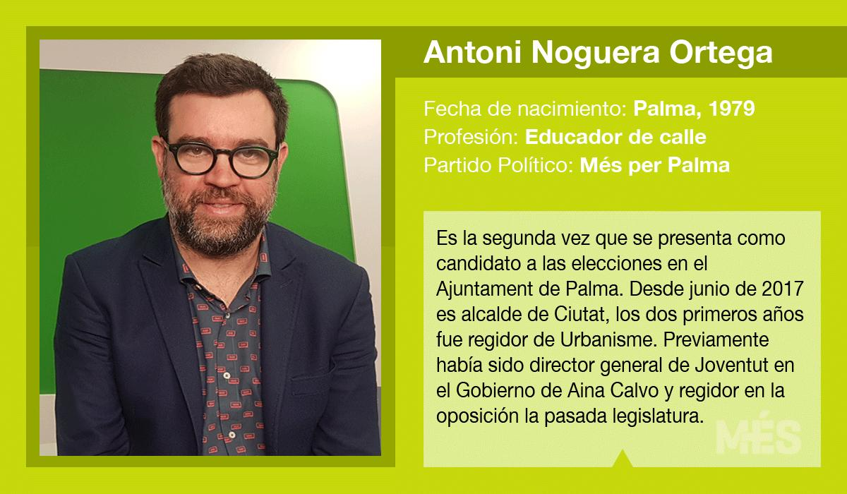 Antoni Noguera, candidato de Més a la alcaldía de Palma