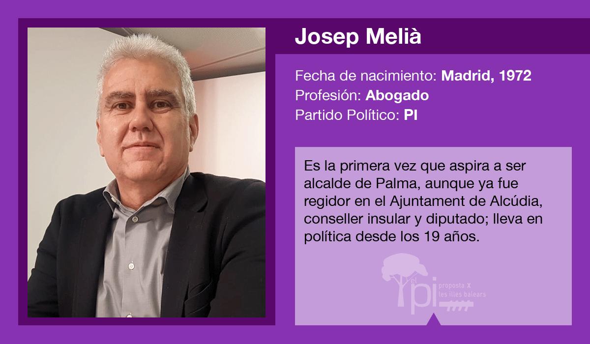 Josep Melià, candidato del PI al Ajuntament de Palma