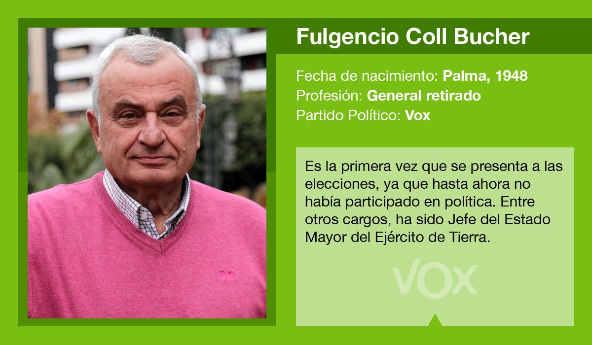 Fulgencio Coll es el candidato de Vox al Ajuntament de Palma