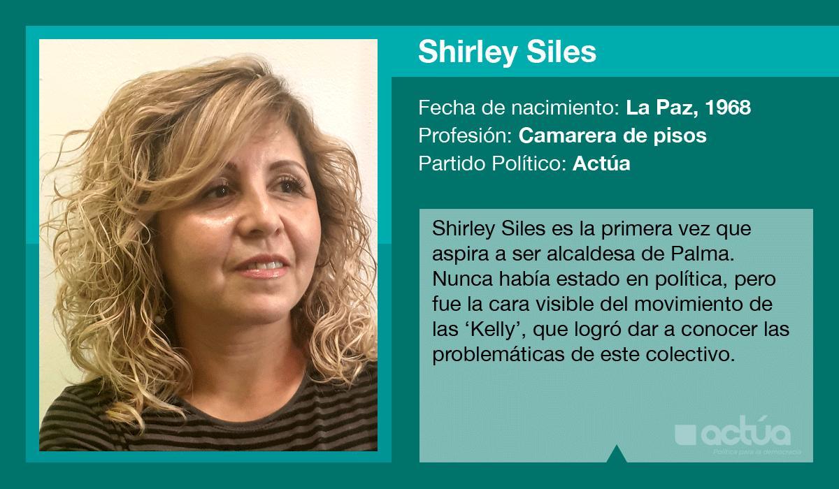 Shirley Siles es la candidata de Actúa al Ajuntament de Palma