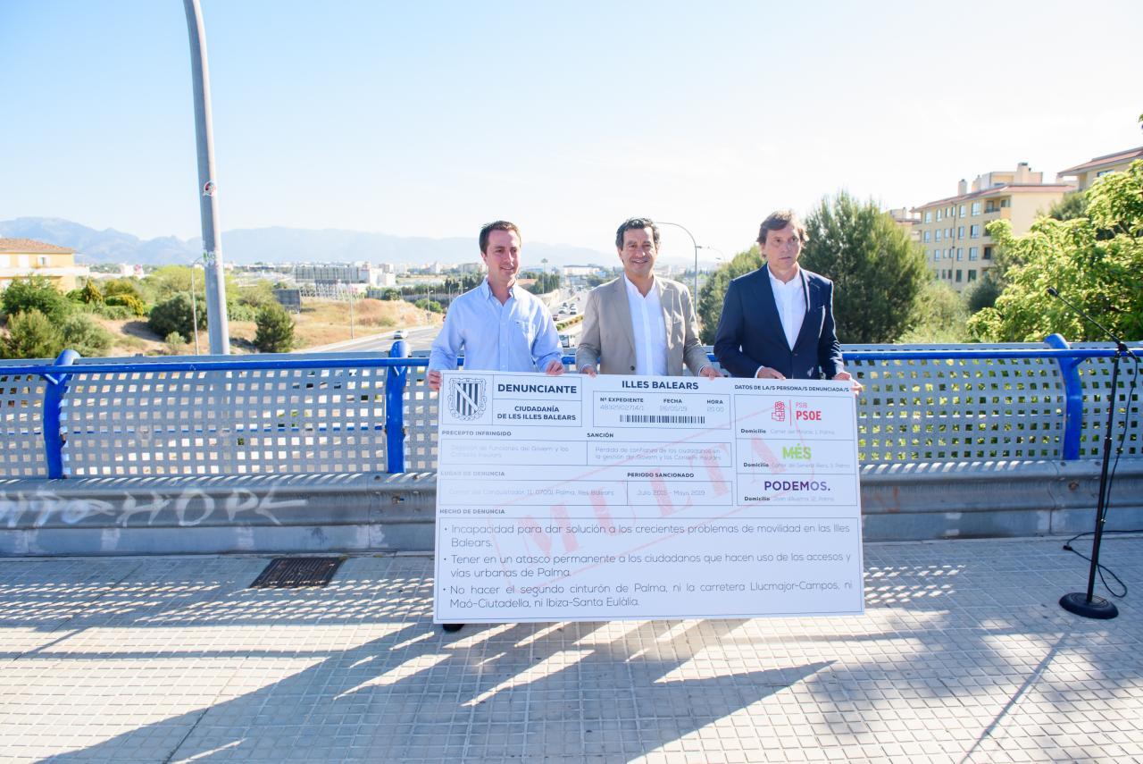Llorenç Galmés, Biel Company y Mateo Isern, candidatos del PP al Consell de Mallorca, el Govern y el Ajuntament de Palma
