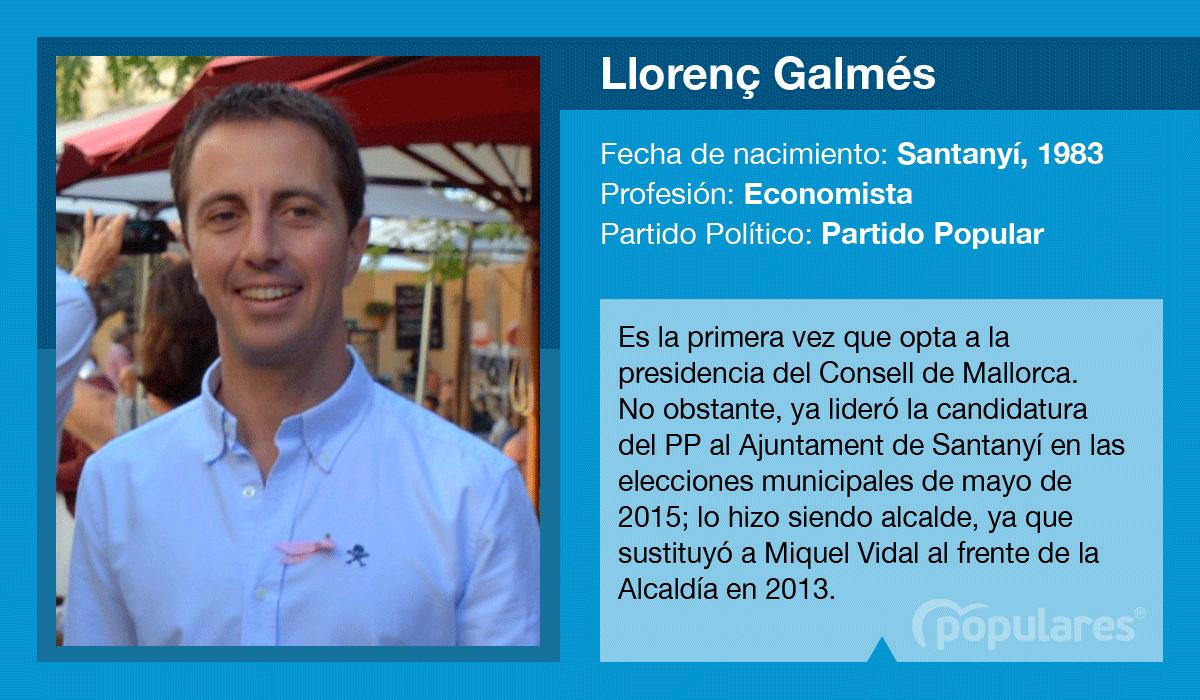 Llorenç Galmés, candidato del PP al Consell de Mallorca