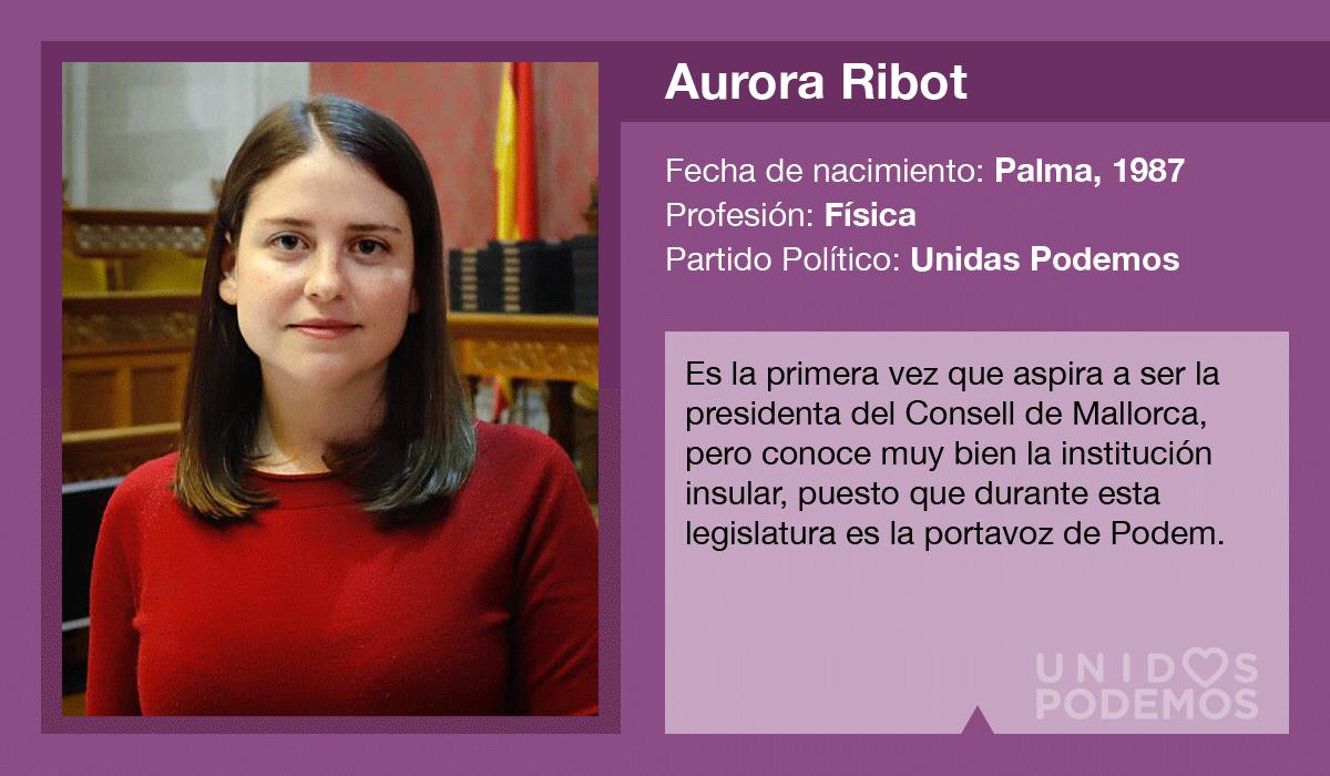 Aurora Ribot es la candidata de Unidas Podemos al Consell de Mallorca