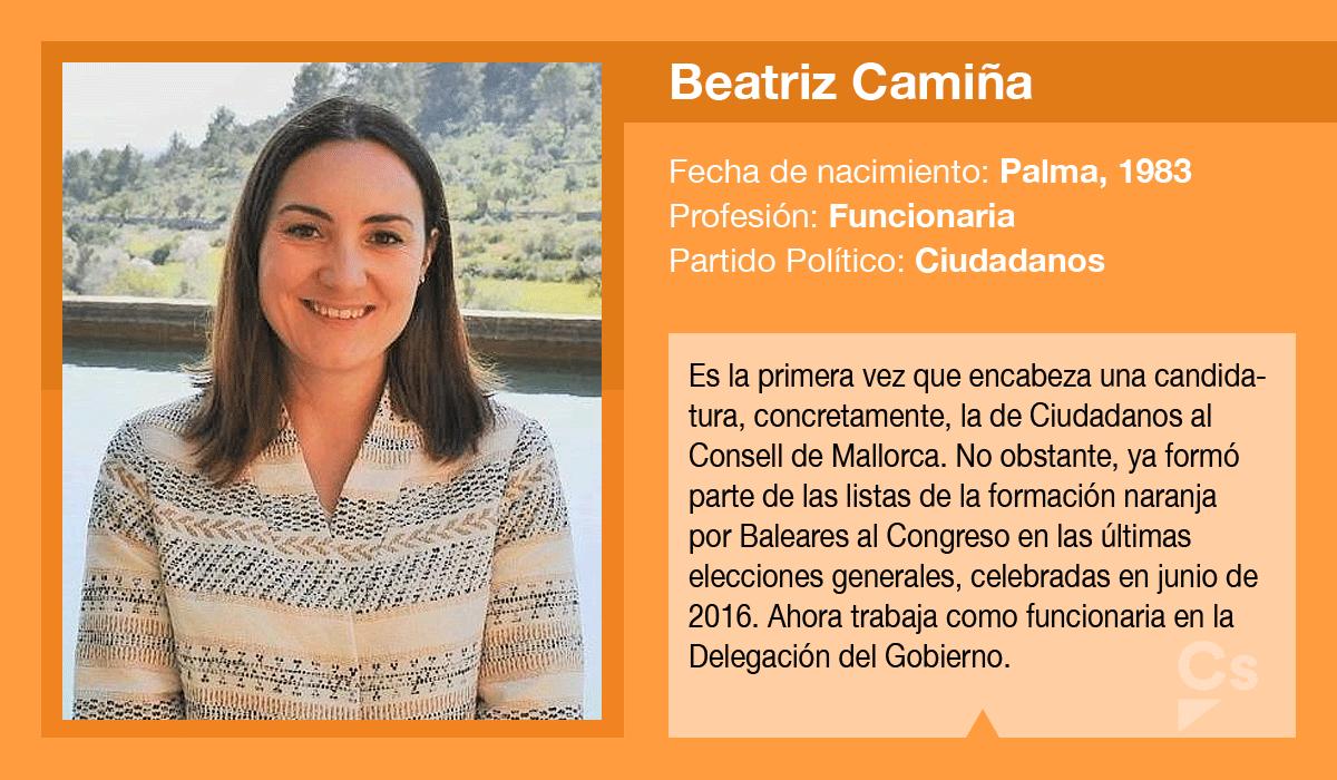 Beatriz Camiña, candidata de Ciudadanos al Consell de Mallorca