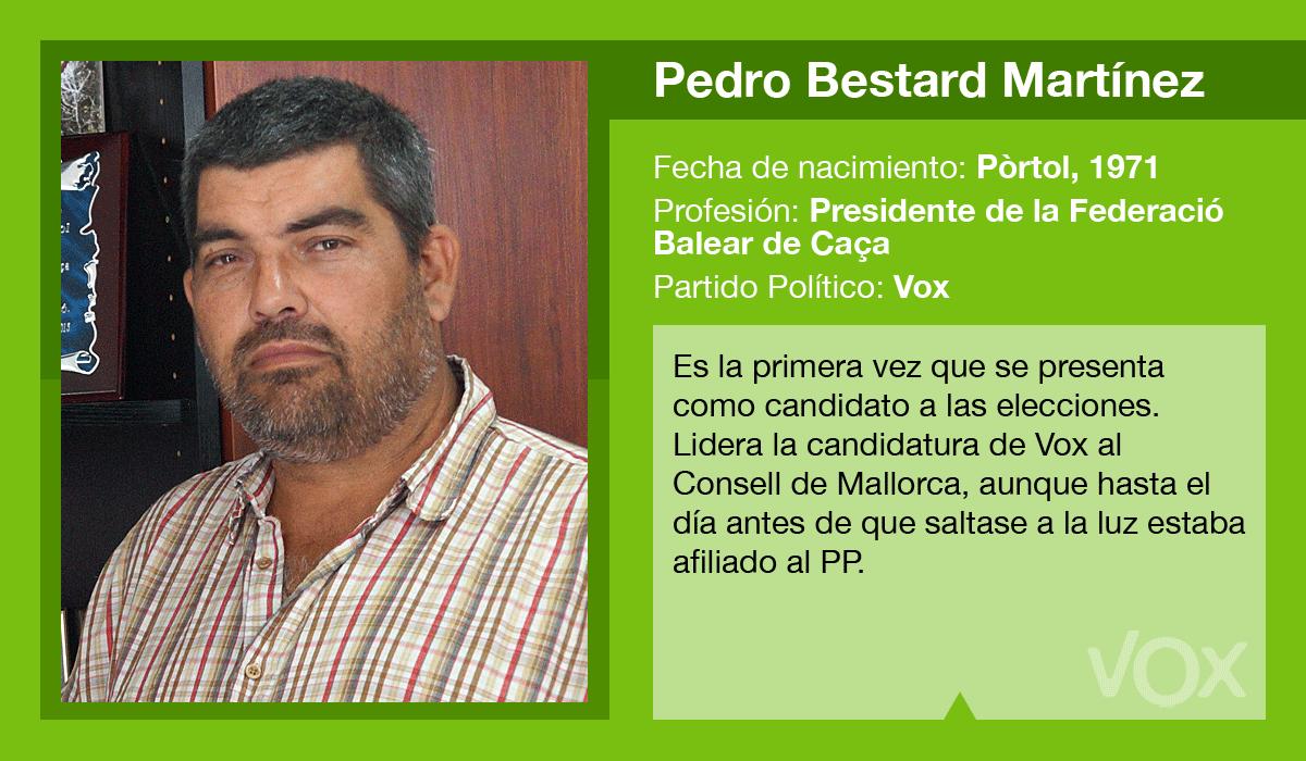 Pedro Bestard es el candidato de Vox al Consell de Mallorca