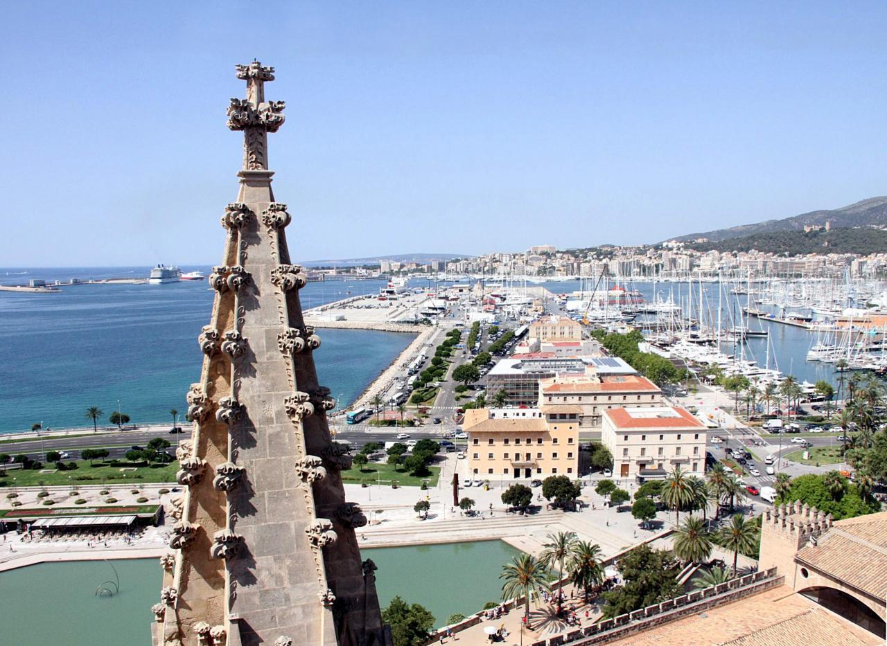 visitas guiadas a las terrazas de la catedral la seu vistas de palma