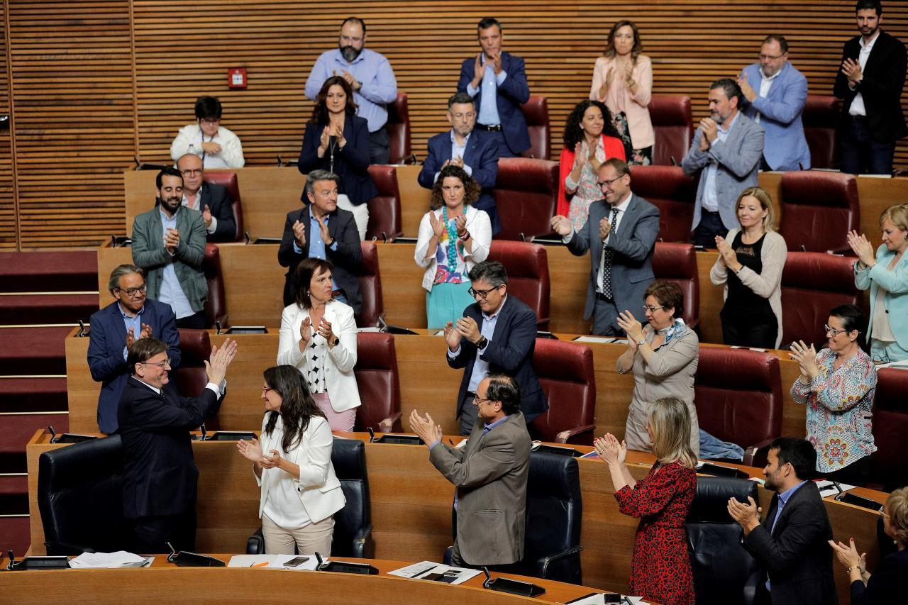 Puig ofrece un proyecto de progreso durante su discurso de investidura