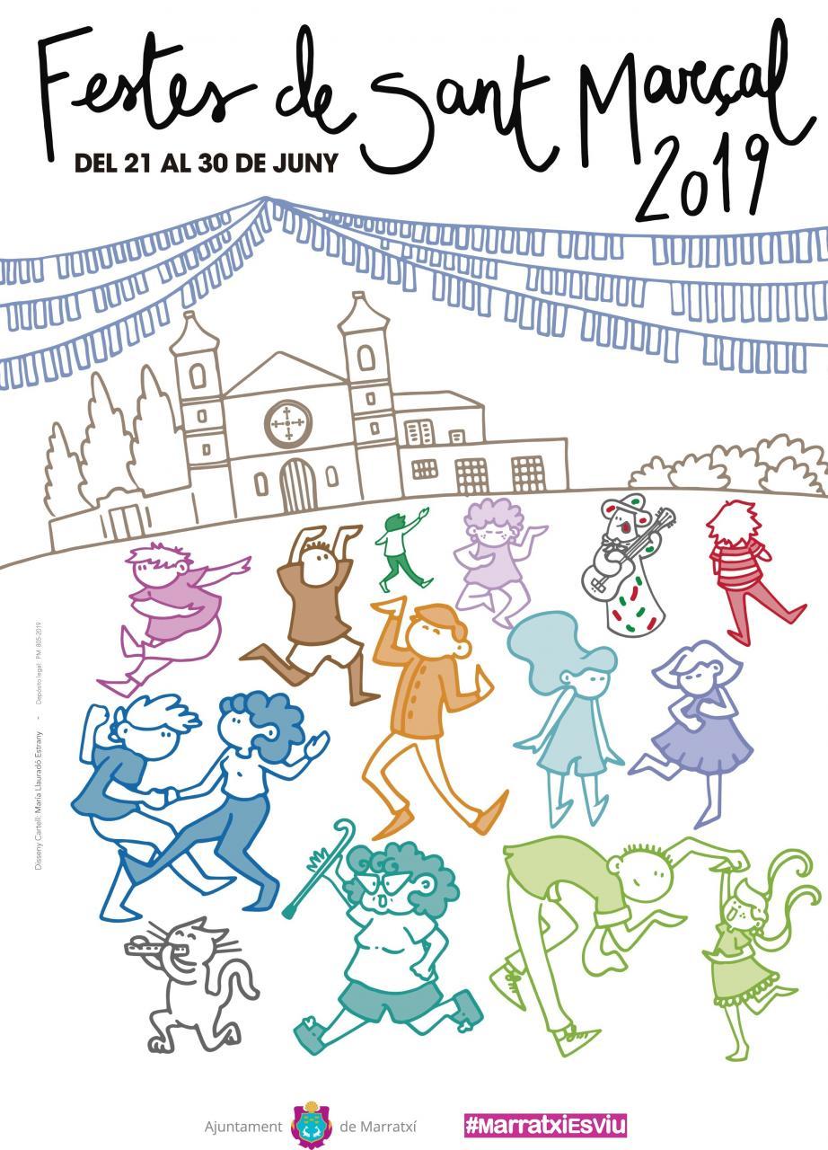 Cartel de las Fiestas de Sant Marçal en Marratxí