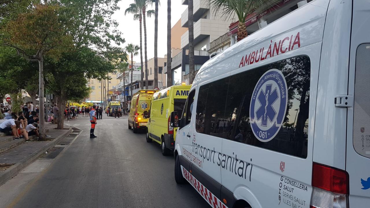 Incendio en un hotel de s'Arenal