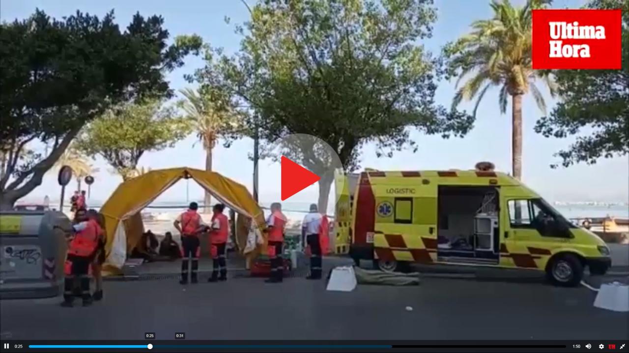 Seiscientos desalojados por el incendio en un hotel de s'Arenal