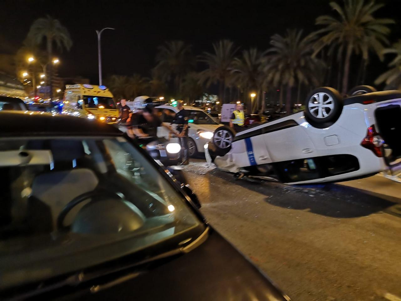 Accidente en el Paseo Marítimo de Palma