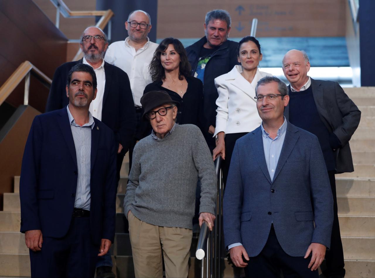 El director neoyorquino Woody Allen inicia el rodaje de su última película en San Sebastián