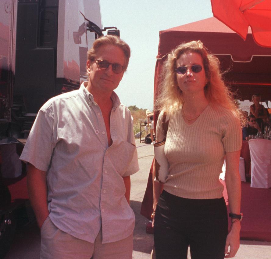 Michael Douglas y su exmujer Diandra Luker, en Mallorca