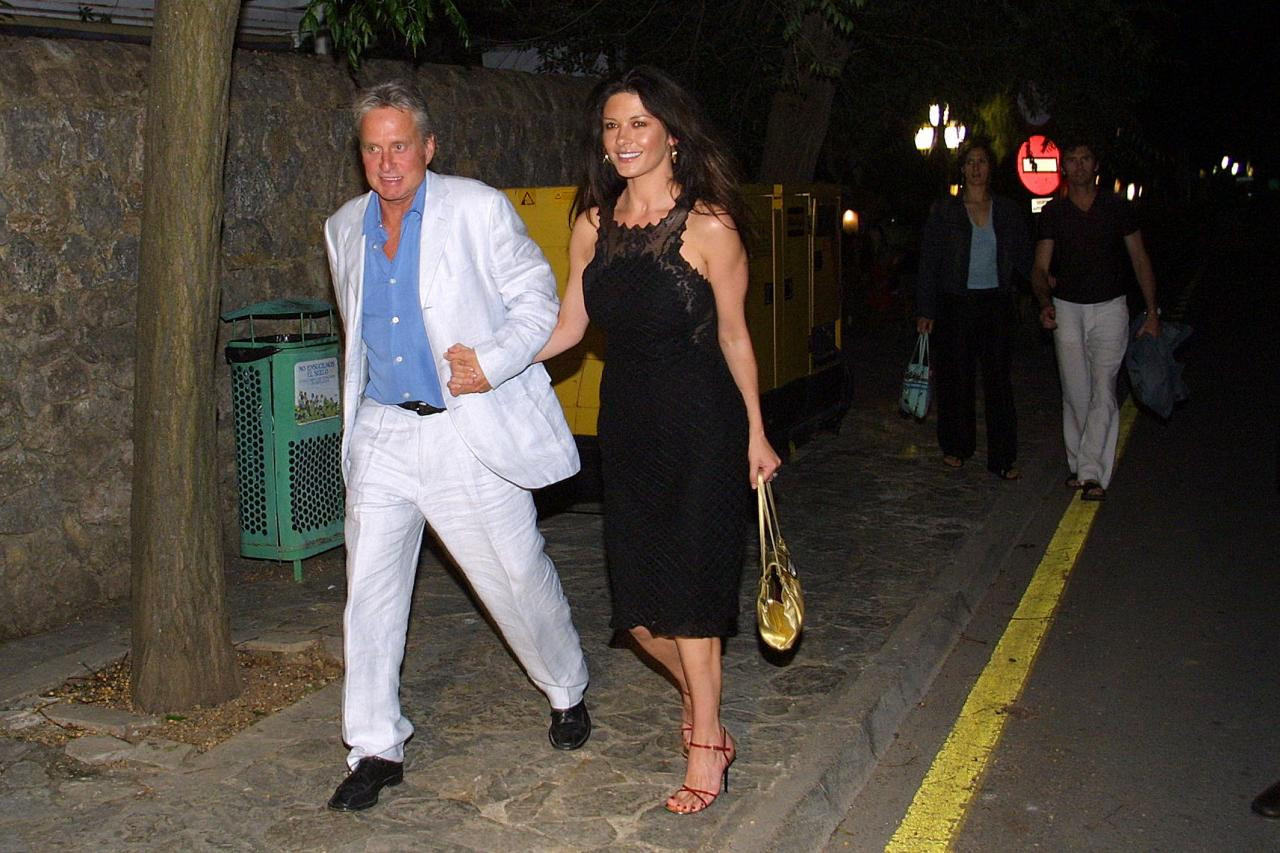 Michael Douglas y Catherine Zeta-Jones, en Valldemossa