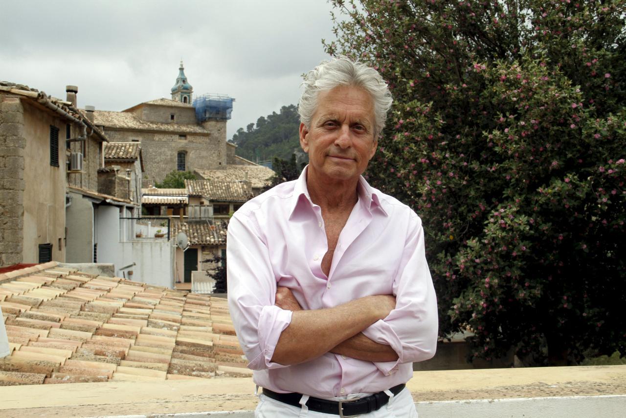 Michael Douglas, durante una entrevista en Valldemossa