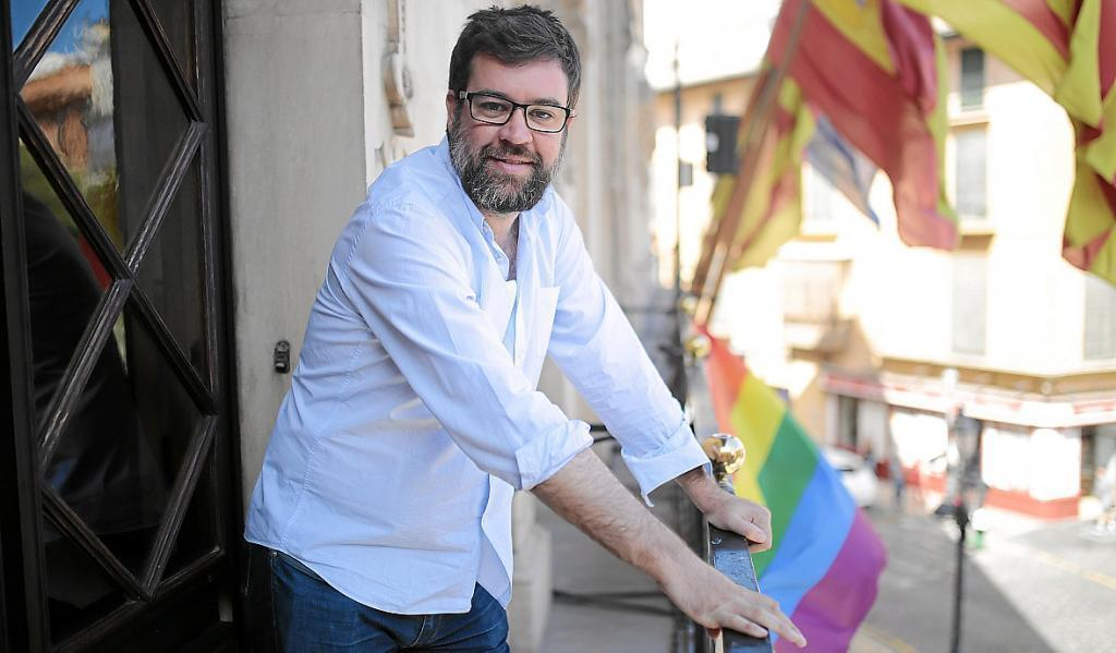 El regidor Antoni Noguera , en el área de Benestar del Ajuntament de Palma