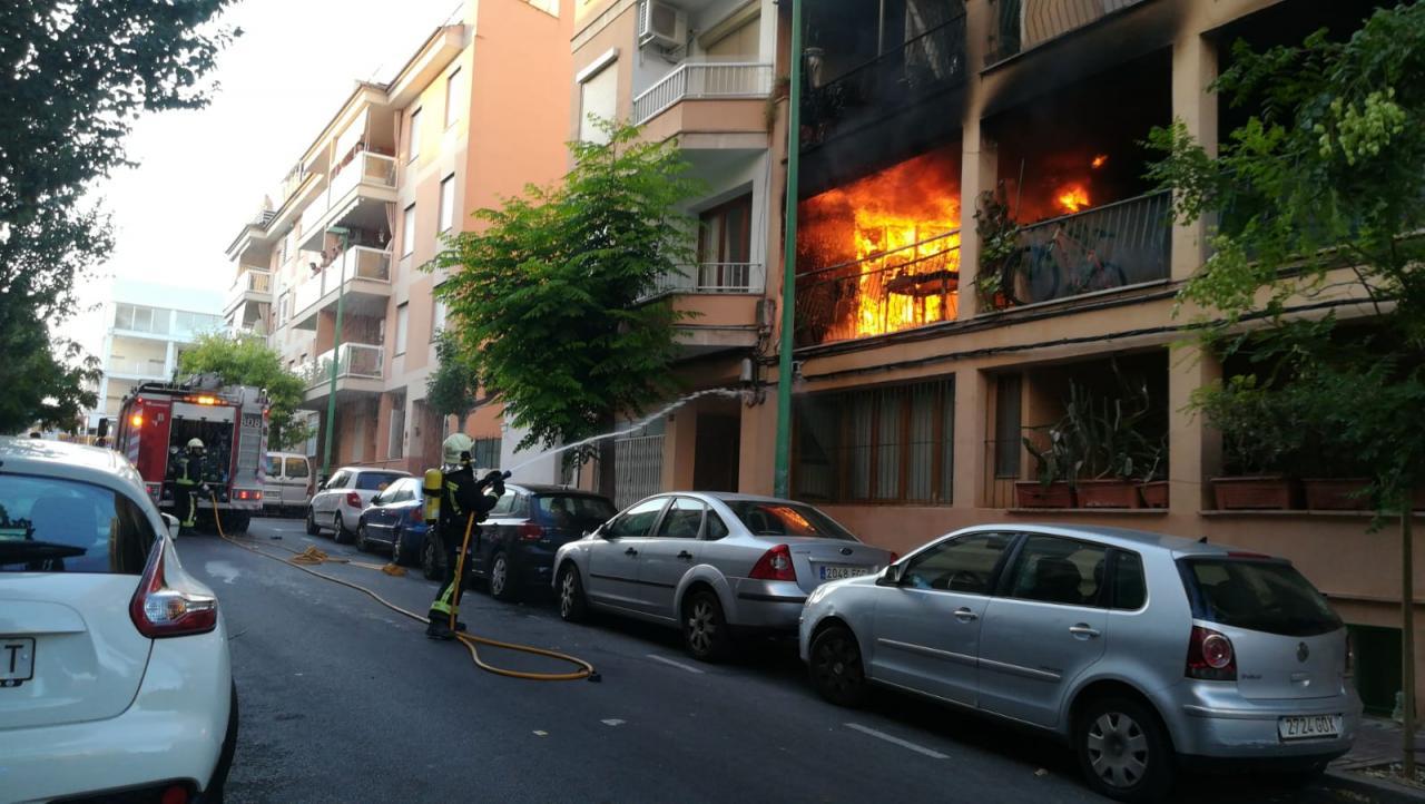 Incendio en el Arenal
