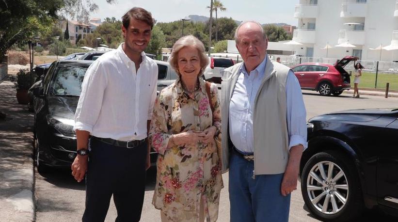 Rafa Nadal, con don Juan Carlos y doña Sofía.