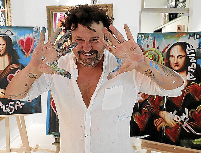 PALMA. ARTE. Domingo Zapata prepara en Palma su próximo trabajo artístico para Nueva York.