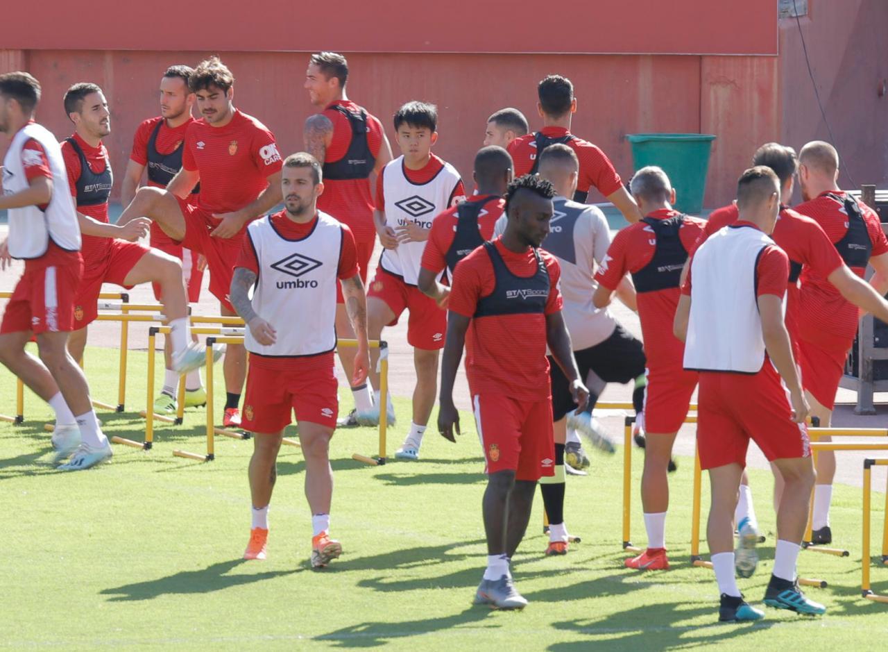 Primer entrenamiento de Takefusa Kubo con el Real Mallorca