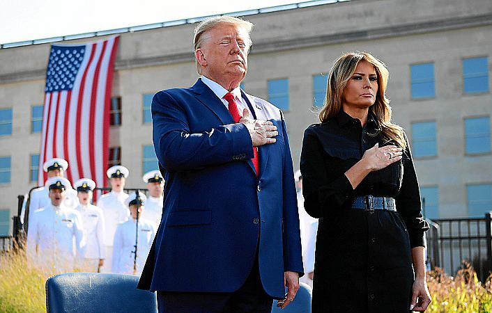 President Trump lays wreath at the Pentagon for 9/11 anniversary