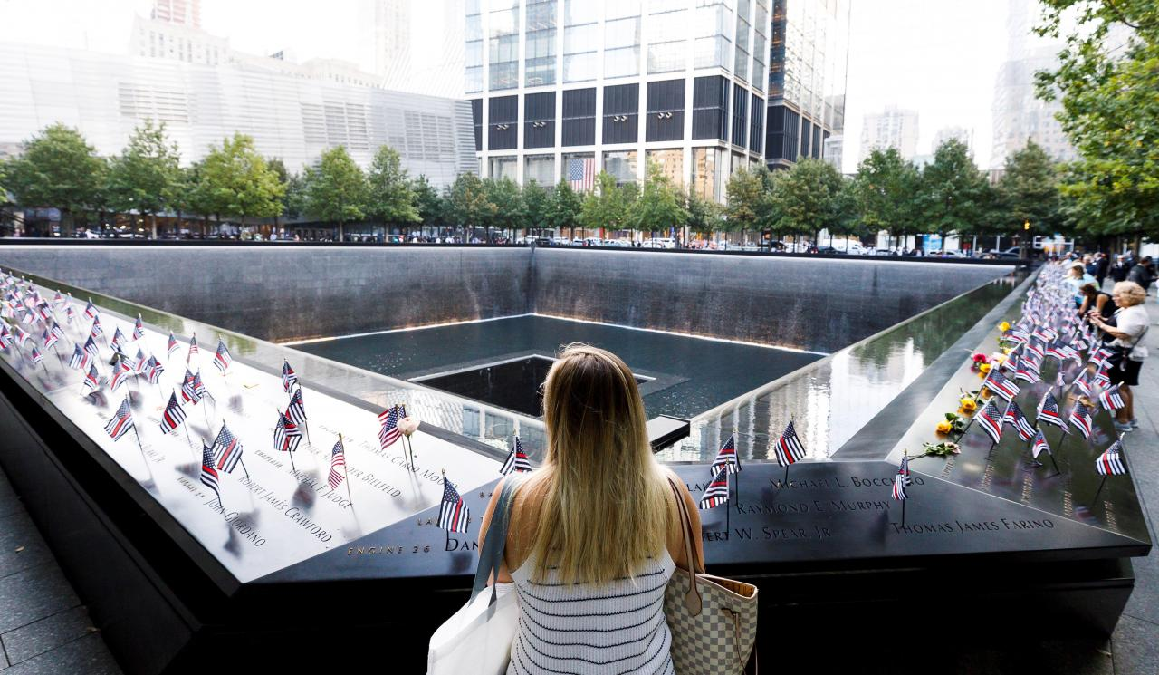 Ceremony to mark 18th anniversary of 9/11 attacks in New York