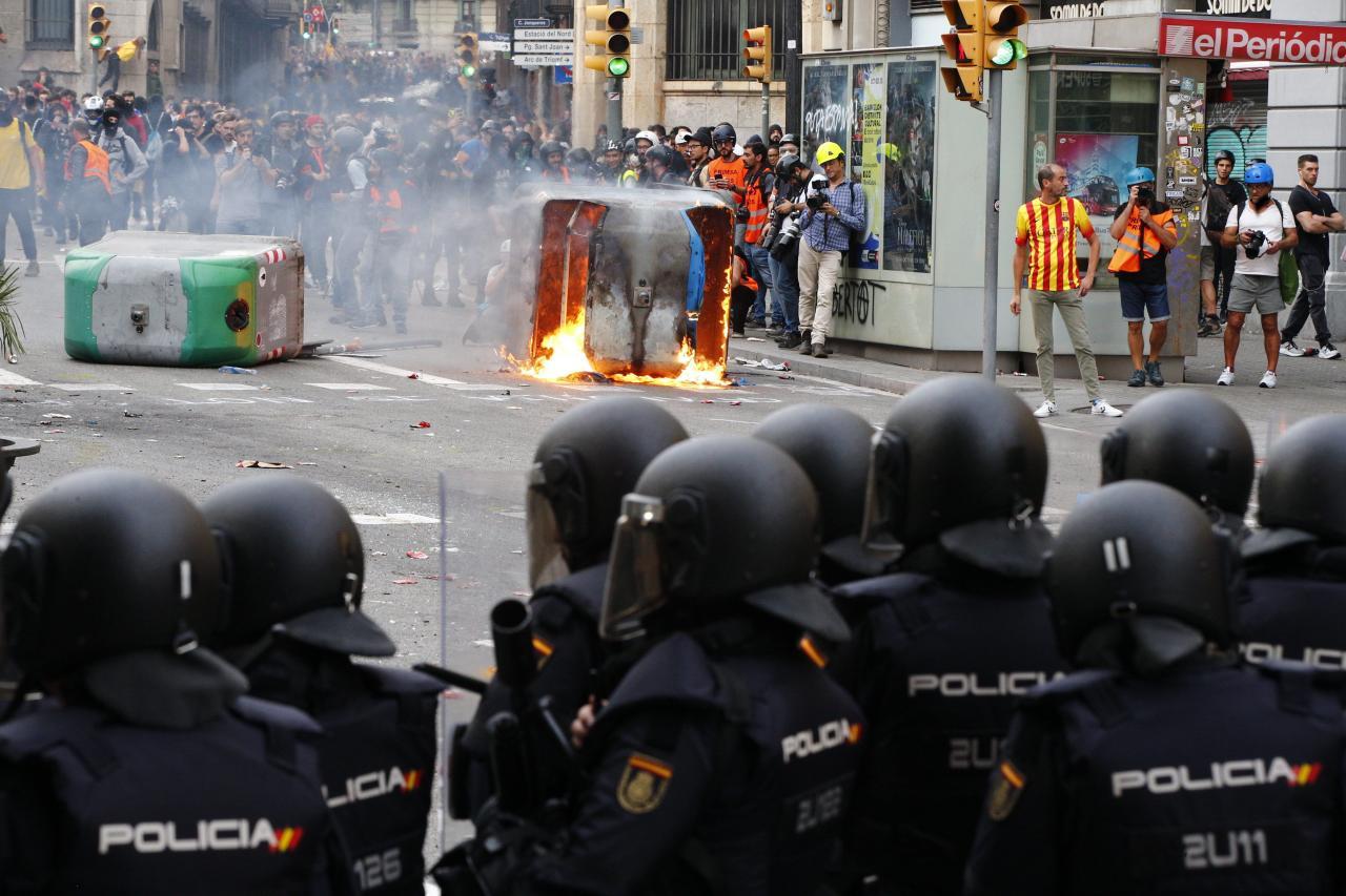 Altercados en Barcelona: graves enfrentamientos