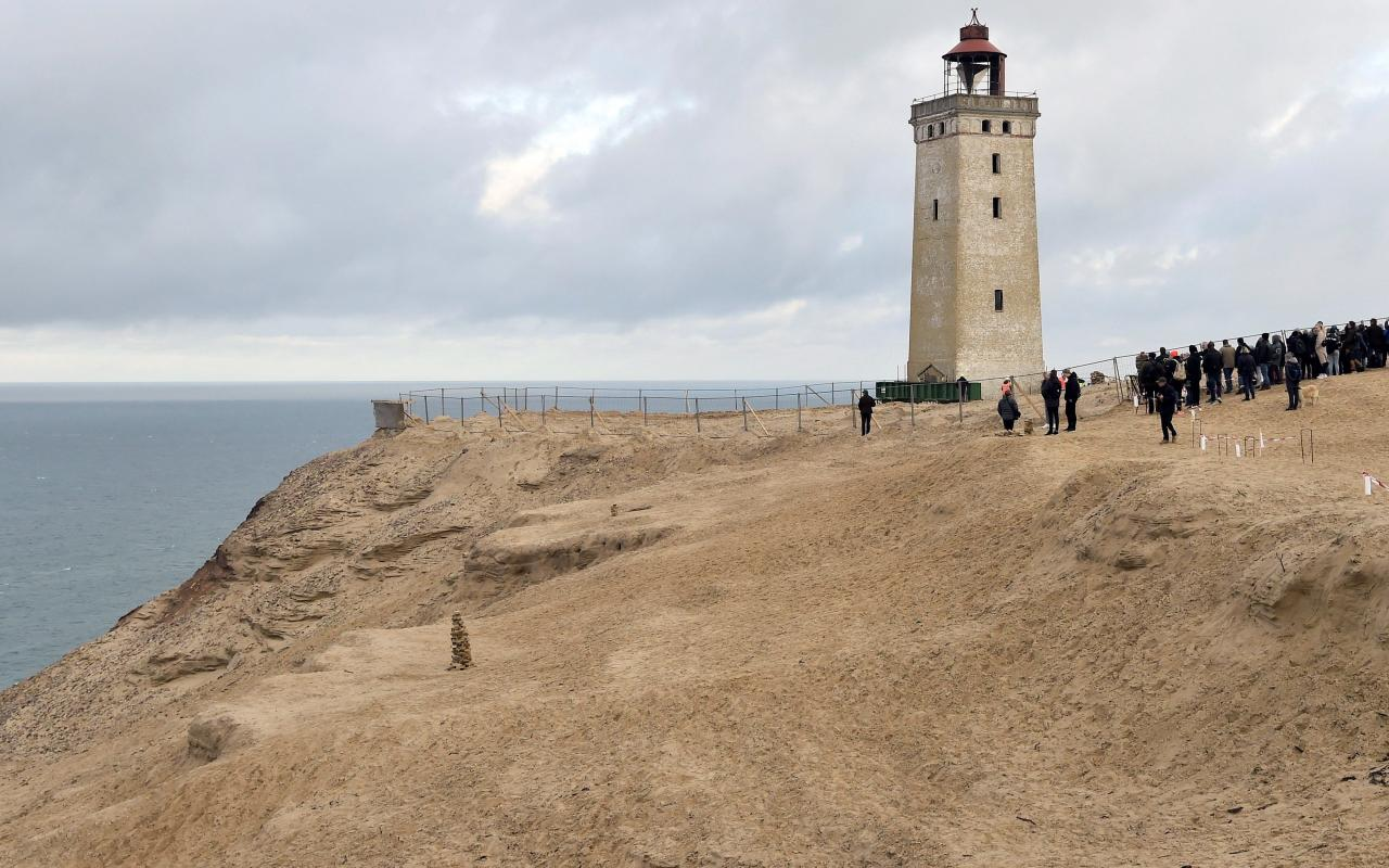 Rubjerg Knude Lighthouse is being moved