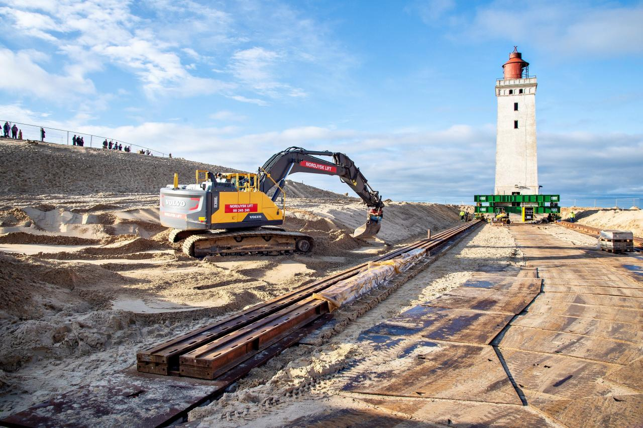 Rubjerg Knude Lighthouse is being prepared for relocation