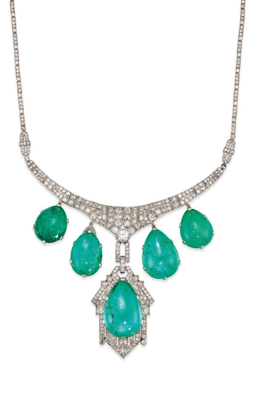 Collar de esmeraldas y diamantes de la familia Franco que ha sido subastado en Christie's
