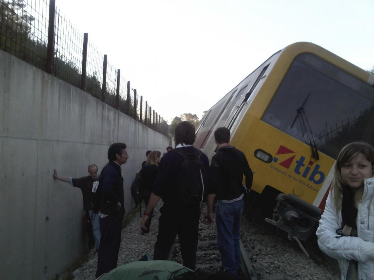 Accidente de tren en Sineu