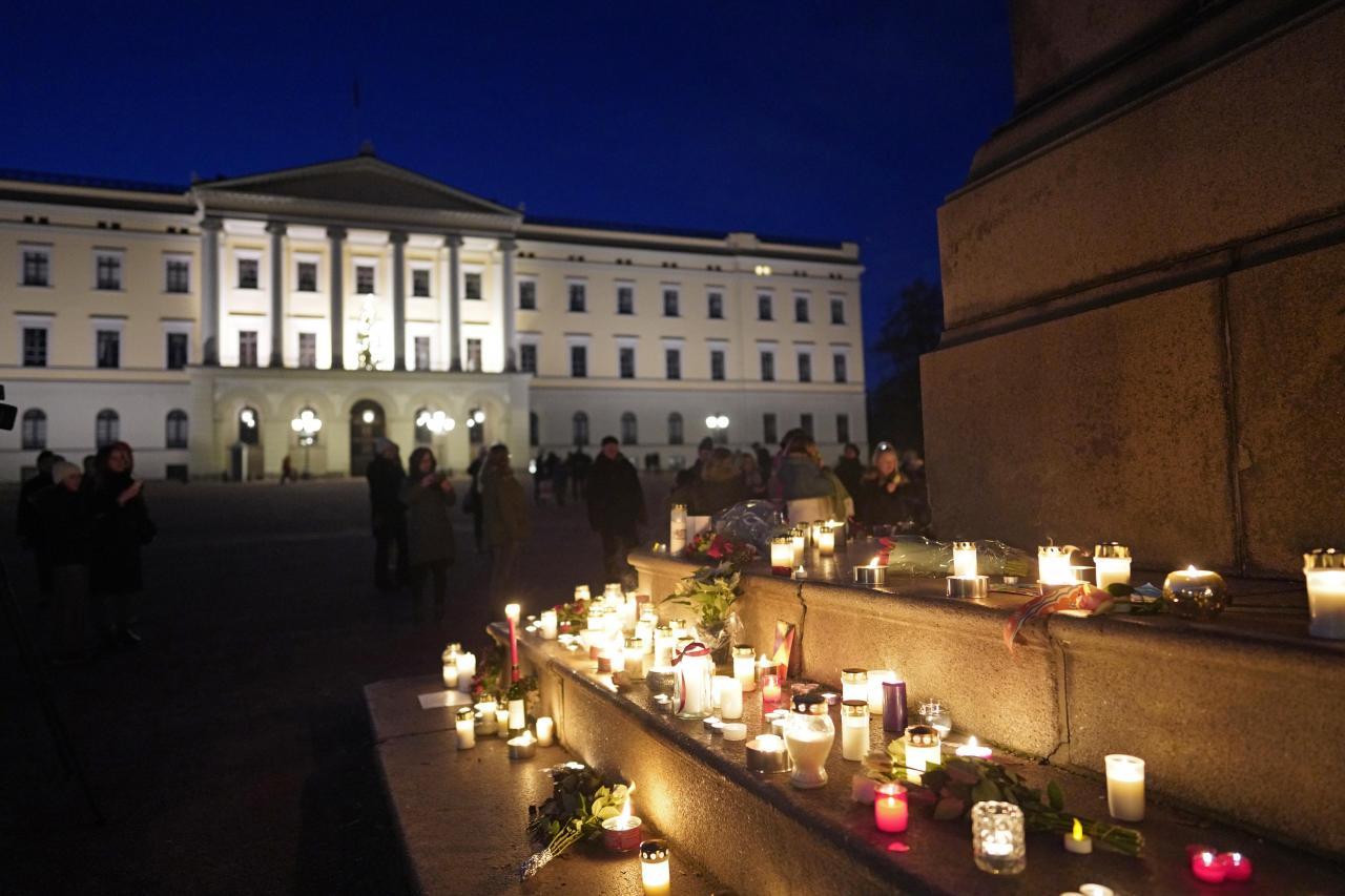 Vigil for late Ari Behn
