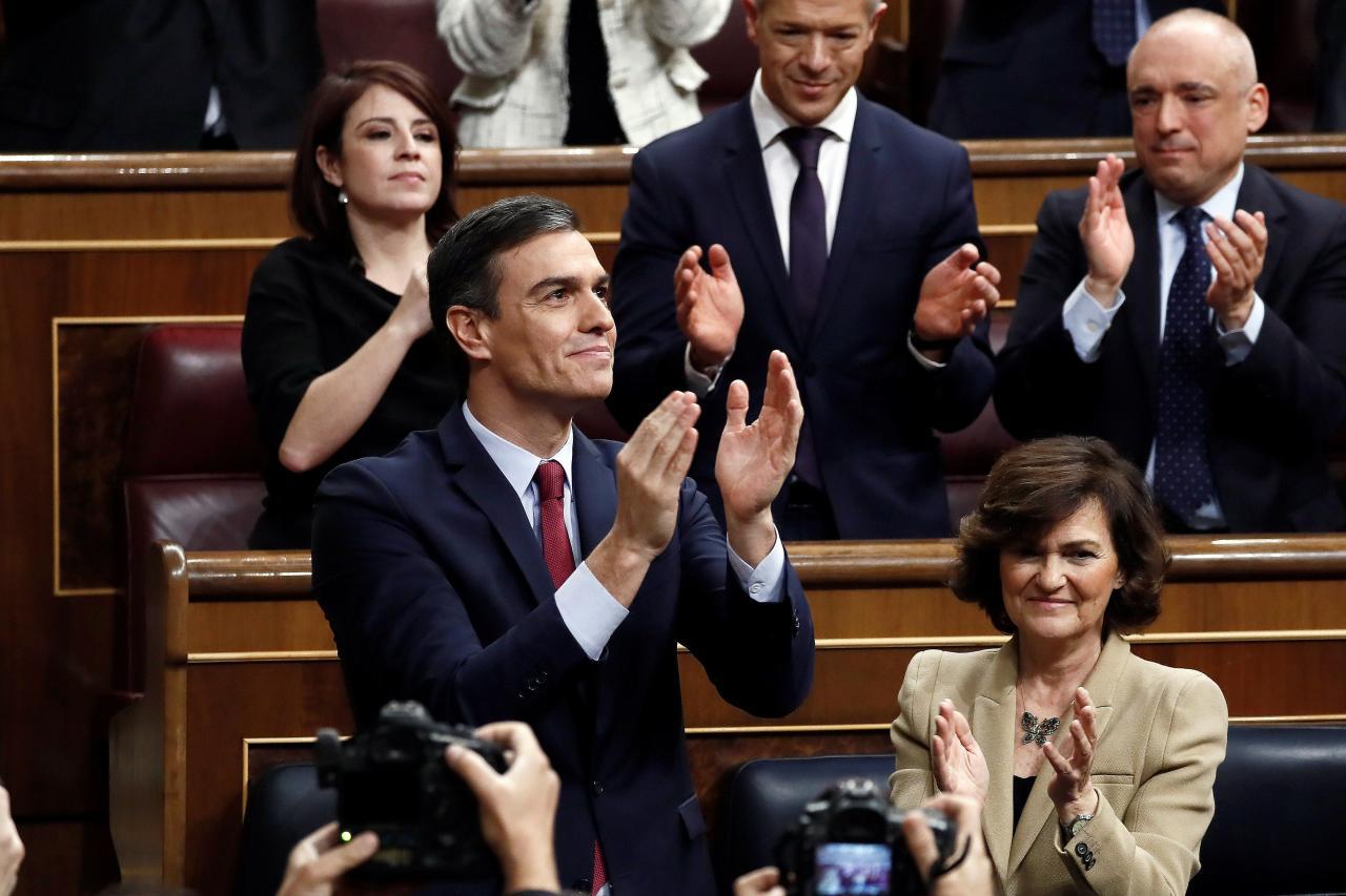Pedro Sánchez, presidente del Gobierno por la mínima