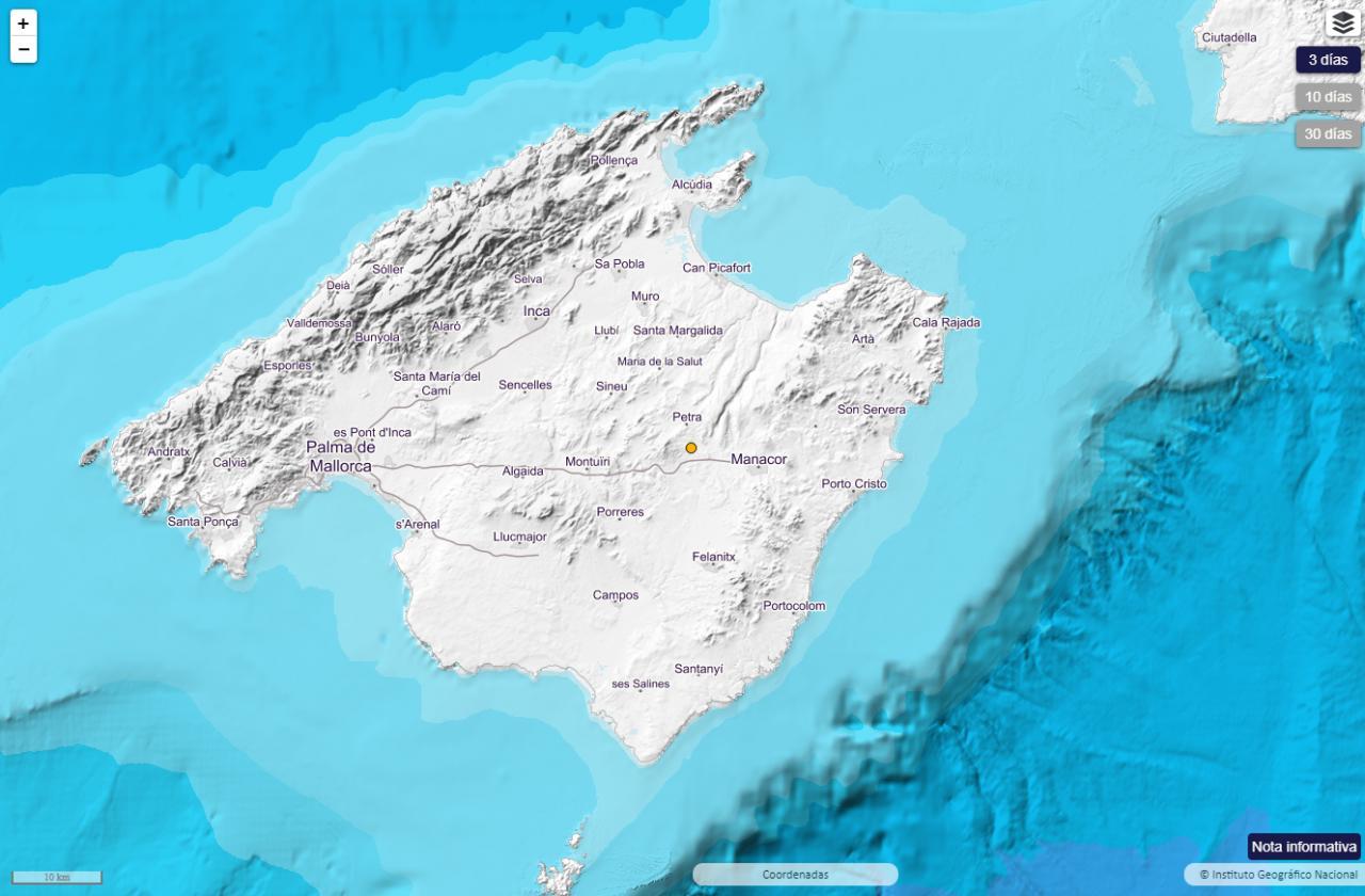 Temblor en Mallorca