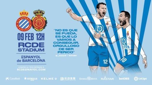 Imagen de la promoción que ha lanzado el Espanyol a través de sus redes sociales de cara al partido contra el Mallorca del domingo en Cornellá-El Prat.