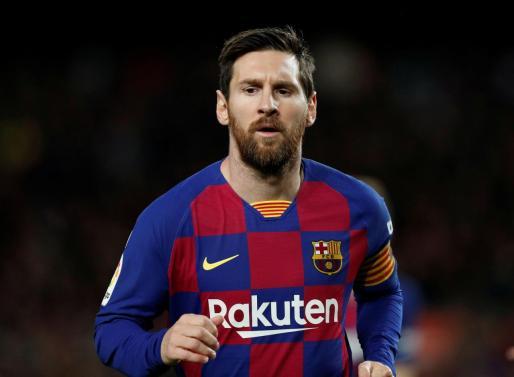 Leo Messi en el encuentro de FC Barcelona contra el Levante.