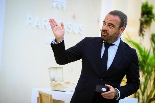 El CEO de Meliá Hoteles Internacional, Gabriel Escarrer, durante su intervención hace pocas semanas en el stand de Meliá Hoteles International en la jornada inaugural de Fitur 2020.