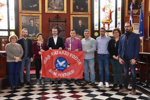 Imagen de la presentación del Trofeo Ciutat de Palma de natación, en el salón de plenos de Cort.