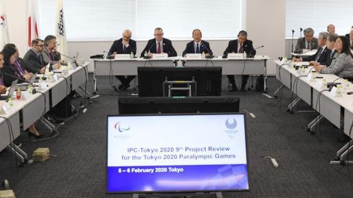 Imagen de la reunión de seguimiento de los Juegos Paralímpicos de Tokio 2020.