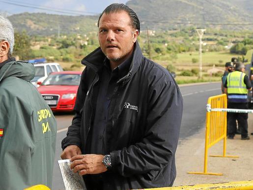 Pedro Robledo en una imagen durante las inundaciones de Sant Llorenç en 2018.